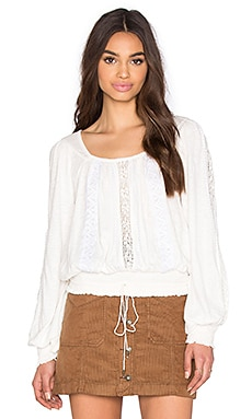 Free People Silverlake Top en Ivoire