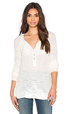 Free People Mountain Song Henley en Ivoire