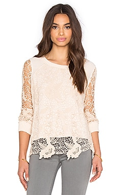 Free People Pretty Rad Pullover in Champagne Combo