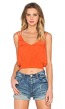 Free People Disco Times Top in Blood Orange