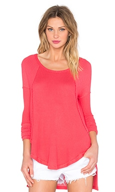 Free People Ventura Thermal Top in Poppy