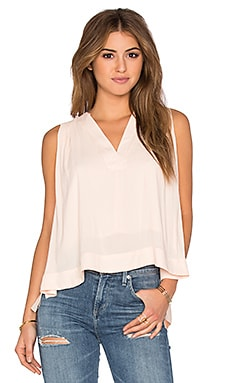 Free People Darcy Super V Top in Pearl