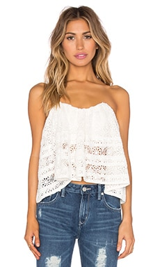 Sydney Lace Tube Top in Ivory