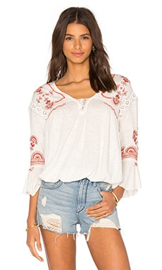 Free People Chiquita Top in Ivory Combo
