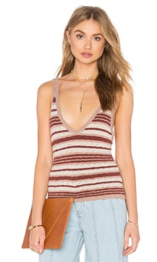 Ditsy Stripe Tank in Neutral Combo