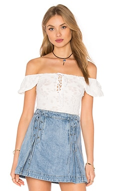 Popsicle Off the Shoulder Top en Ivoire