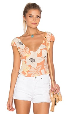 Into the Groove Top in Peach