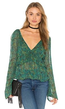 Uptown Bell Sleeve Top in Green