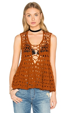 Free People Circles Within Circles Top in Terracotta