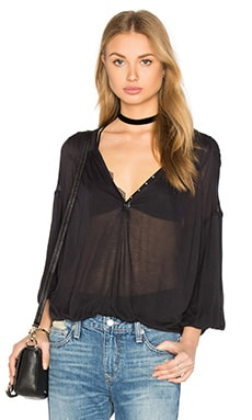 Peaks Island Top in Black