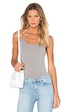 Free People Basic Seamless Bodysuit in Grey