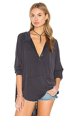 Free People Rose Shirt in Black