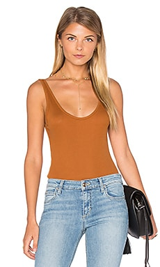 Free People Boy Babe Bodysuit in Copper