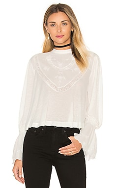 Free People Femme Tatale Top in Ivory