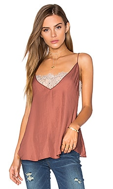 Deep V Bandeau Top in Copper