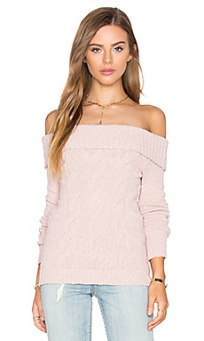 Free People Cable Foldover Top in Pink