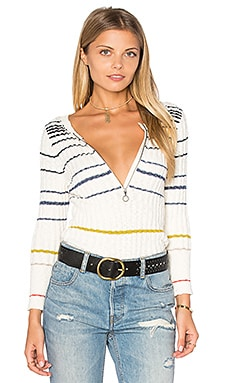Free People Striped Rossi Top in Ivory Combo