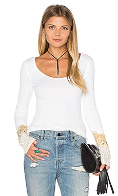 Free People Bandana Cuff Top in Cream
