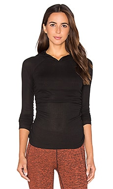 Free People Apollo Long Sleeve Top in Black