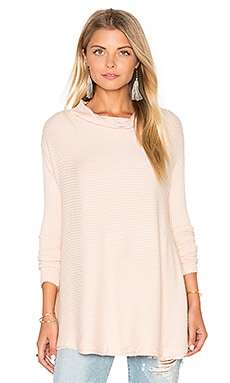 Free People Lover Rib Thermal Top in Pink