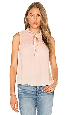Ruffle Me Up Top en Rosado