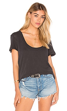 Free People Phoebe Tee in Black