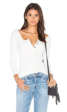 Jill Henley Top in Ivory