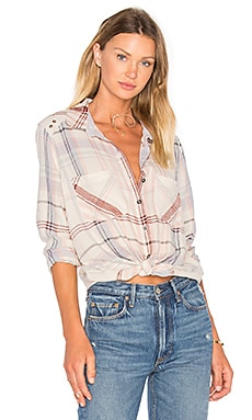 Wesley Plaid Top in Ivory
