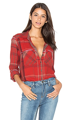 Wesley Plaid Top in Red
