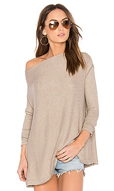 Free People Lover Rib Thermal Top in Taupe
