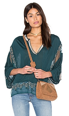 Free People Eden Top in Dark Turquoise