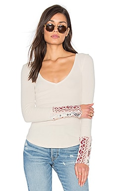 Free People Art School Cuff Top in Taupe