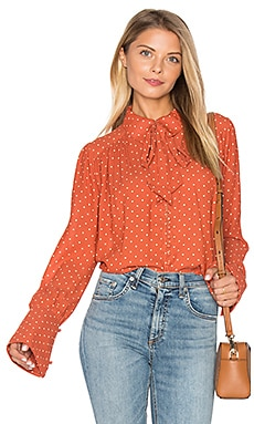 Kennedy Blouse in Terracotta