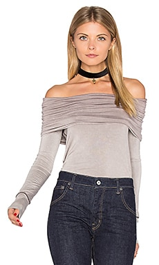 Cosmo Cowl Long Sleeve Top in Taupe