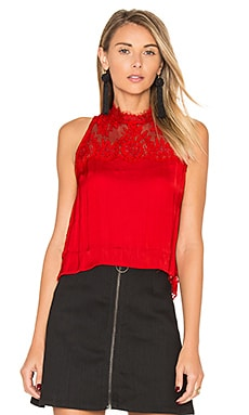 Tied to You Lace Top in Red