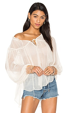 Dream Cuff Blouse in Ivory