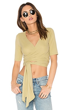 Sacred Wrap Top in Moss