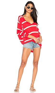 Upstate Stripe Tee in Red