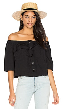 Head Over Heels Top en Negro