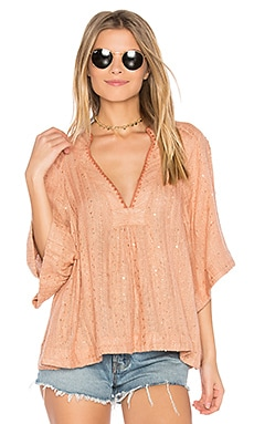 Get Over It Striped Pullover in Peach