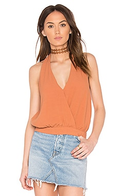 Drapey Dreams Tank in Burnt Orange