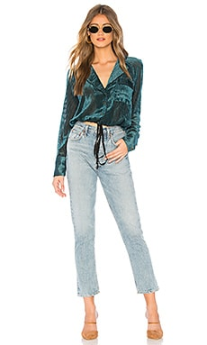 Sale Free People Aspen Nights Velvet Top