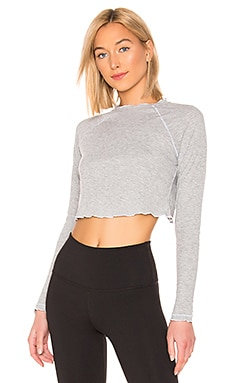 Coupon Free People Movement Rib And Stitch Casual Layering Tee