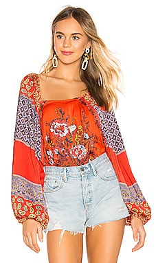 Positano Printed Blouse Free People $85