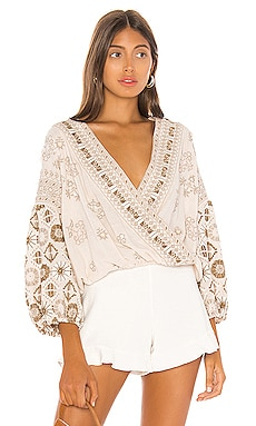 Harmony Embroidered Blouse Free People $148