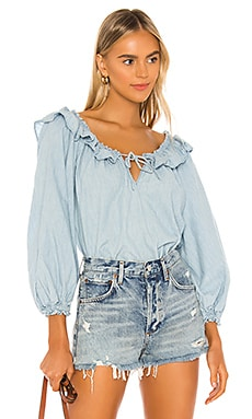 Lily Of The Valley Chambray Blouse Free People $71