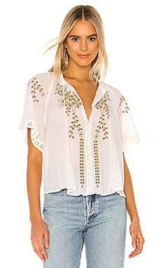 Dahlia Embroidered Blouse Free People $118