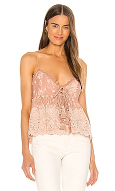 Jenna Embroidered Cami Free People $78 NEW ARRIVAL