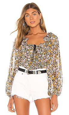 Mabel Printed Blouse Free People $76