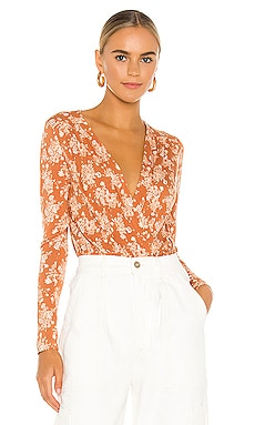 Printed Turnt Bodysuit Free People $78